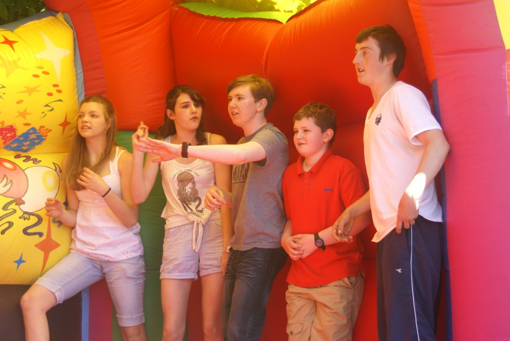Some of our Youth on the Bouncy Castle