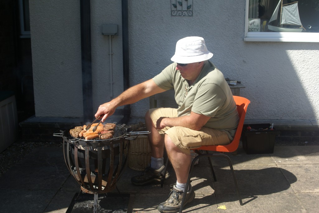 Deacon John cooking up a feast on the Barbi