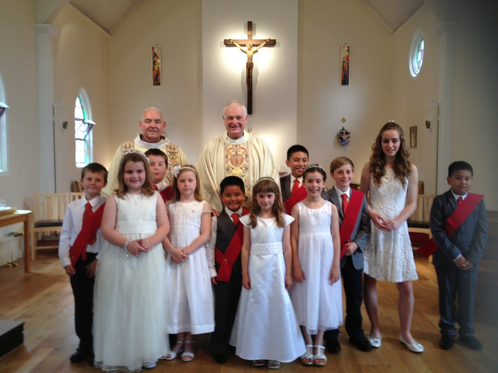 First Holy Commumion  Children at Holy Angels 2014
