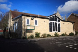 The rear of the Holy Angels Church Hall
