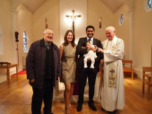 Baby Lyla Dalal baptised on 24th February, 2013