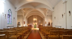 The beautiful Holy Angels Church interior