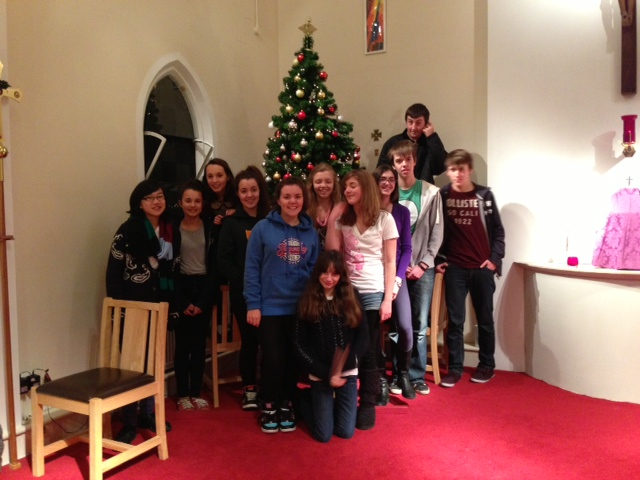 Our Youth Group who helped erect and decorate the Christmas Tree