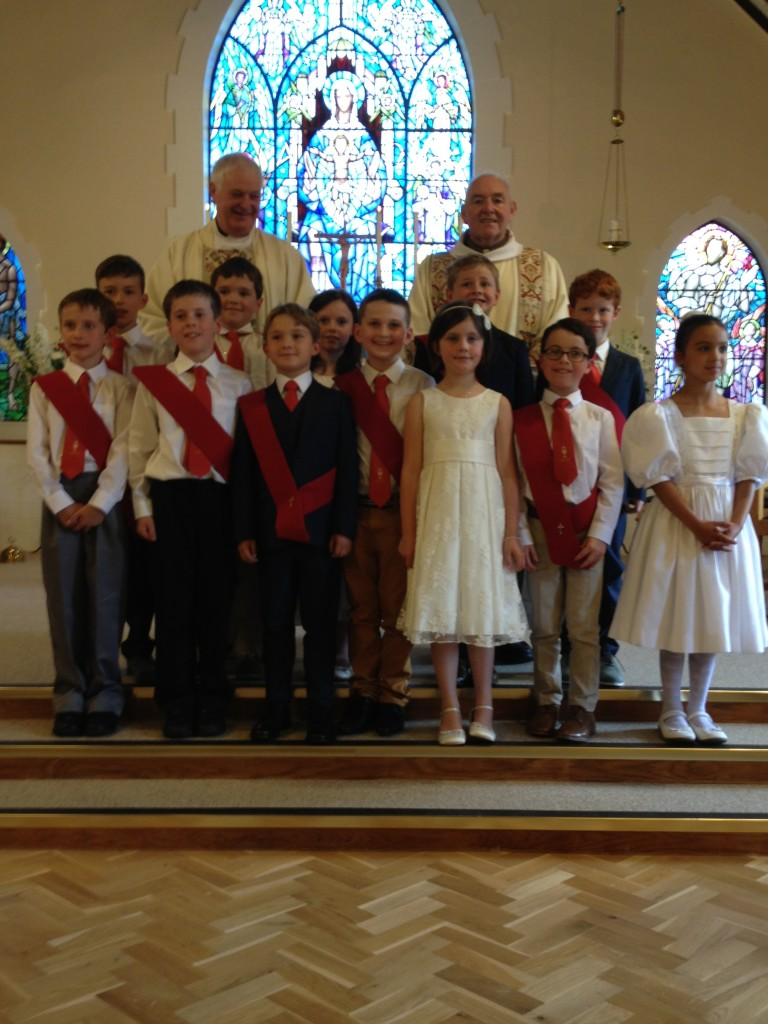 First Holy Communion Children at Holy Family Church, Farnham.